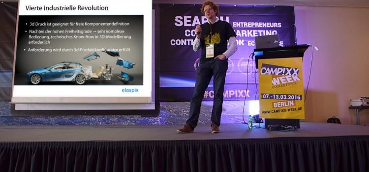 Vortrag auf der Campixx-Week zum Thema Mass Customization & Produktdarstellung von Dr. Tobias Günther