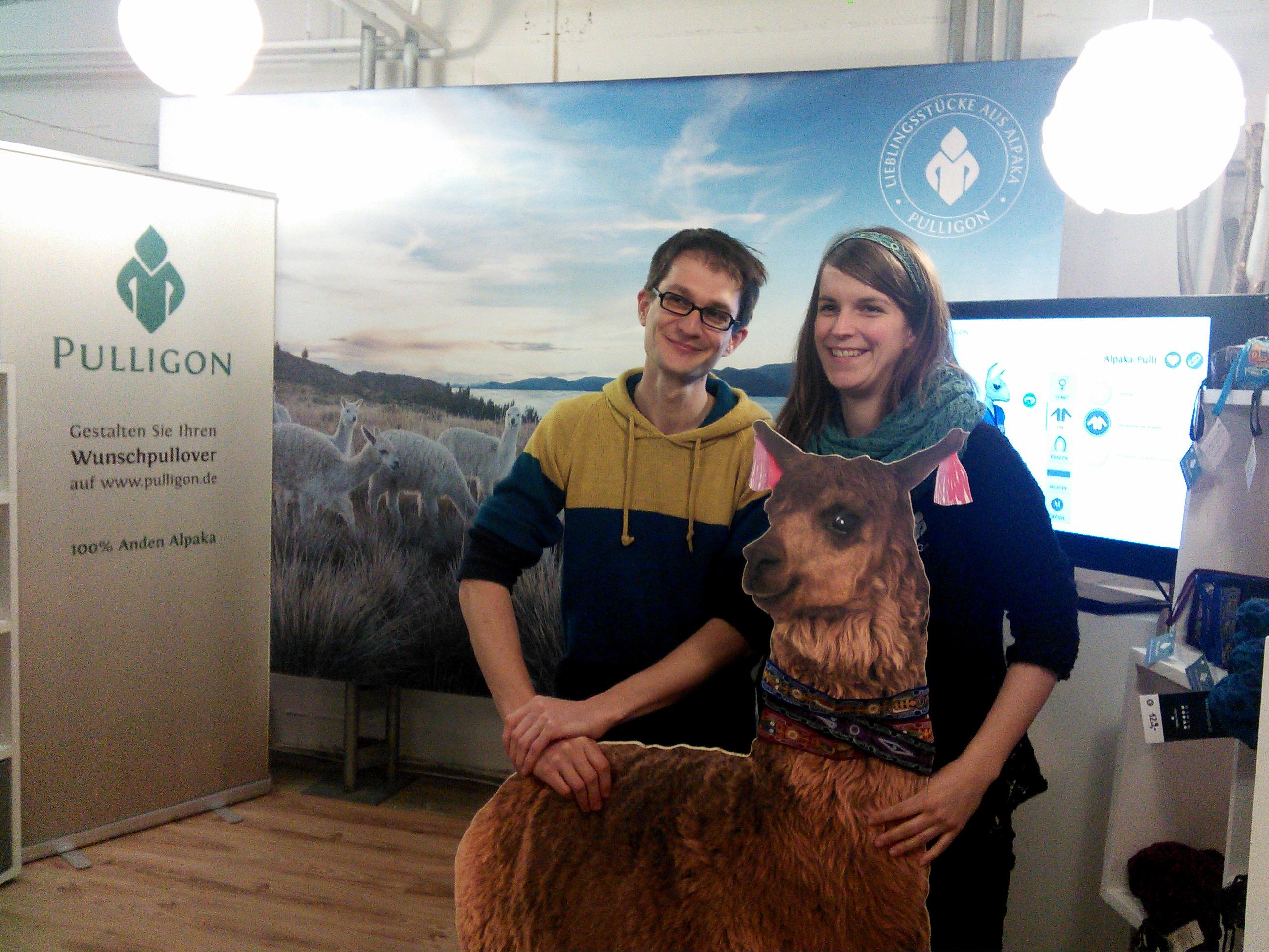 Die Gründer Daniela & Florian von Pulligon bei der 2. Ladeneröffnung in Karlsruhe