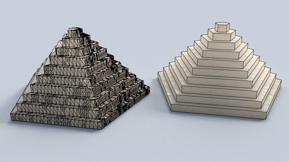 3d modelle polygonstruktur