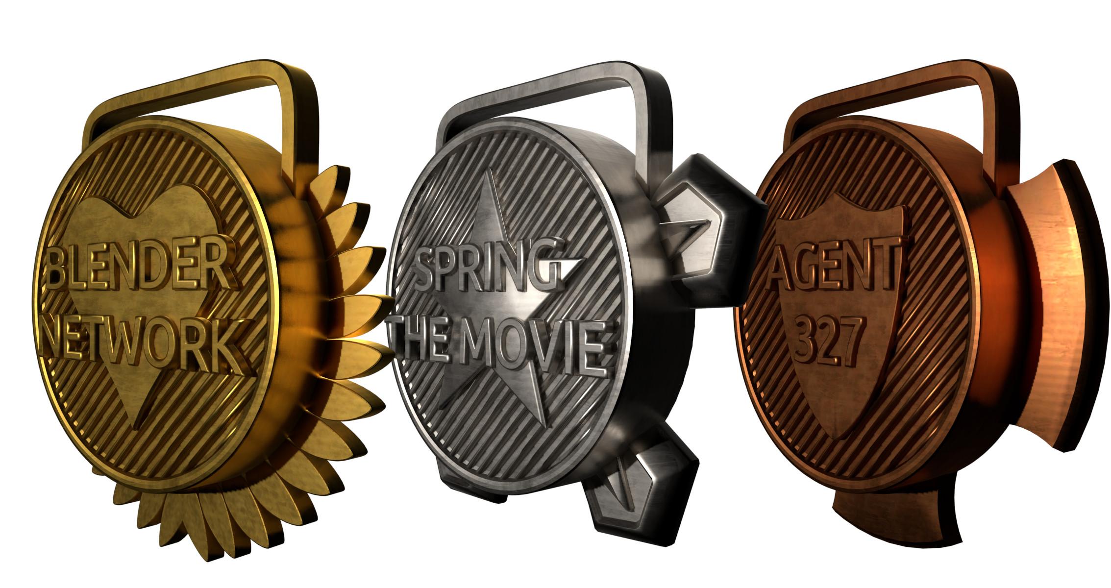 Formvariation von Medaillen, hochwertige Metallvisualisierung