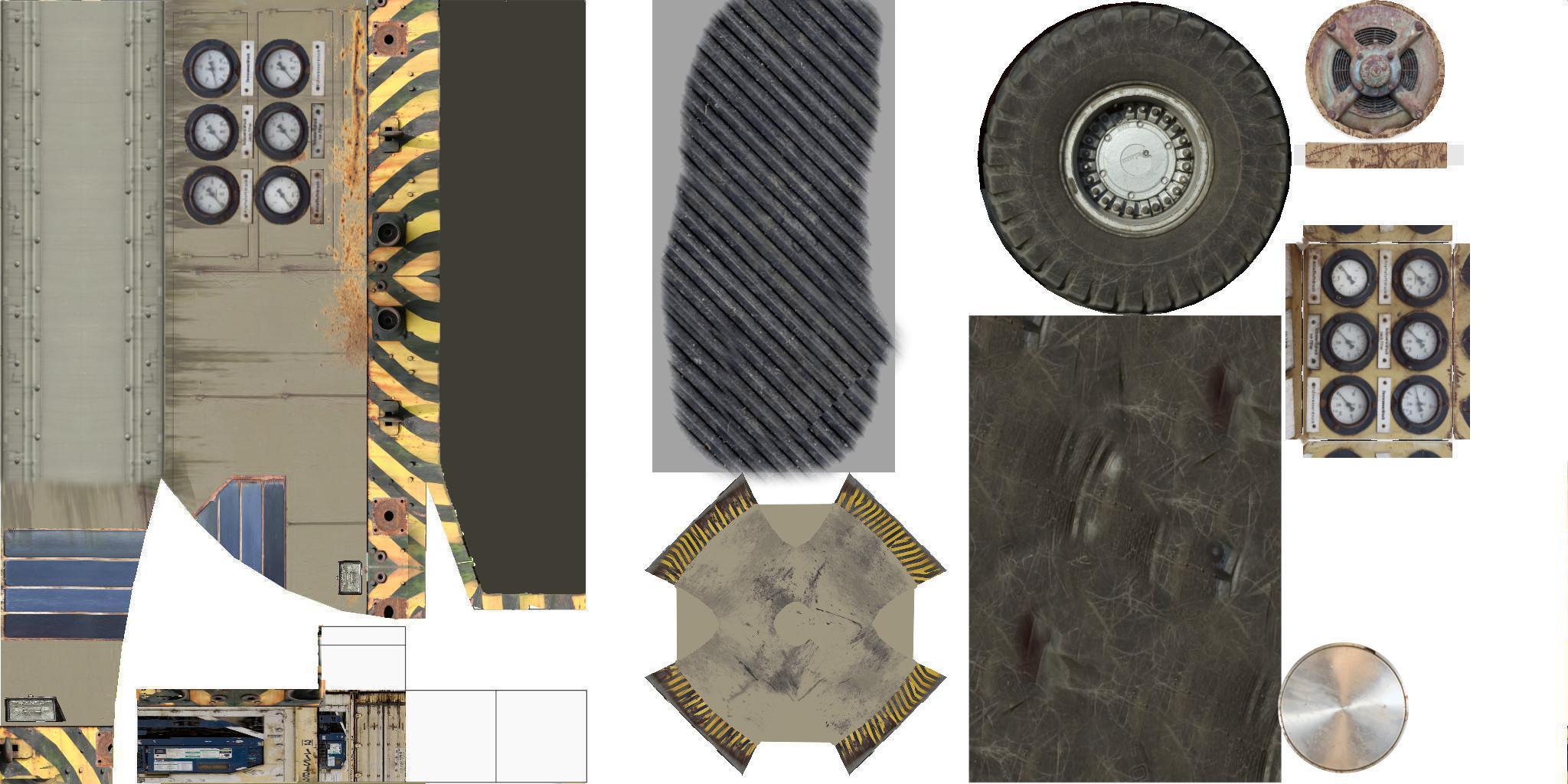 Diffuse-Textur mit Farbanteilen, die auf das Modell gelegt werden.