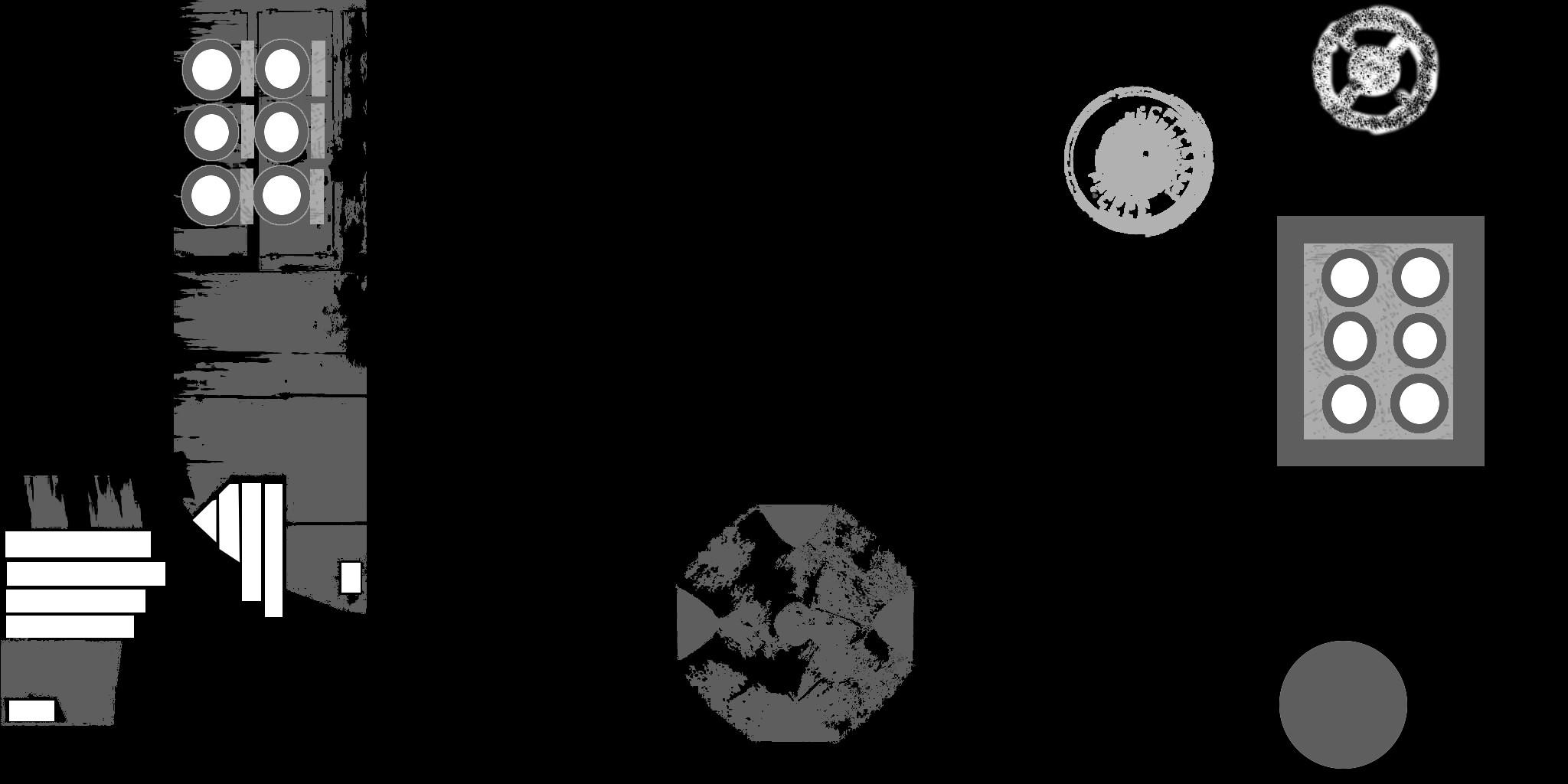 Die Specular-Map zur ortsabhängigen Steuerung des Glanzlichtes.